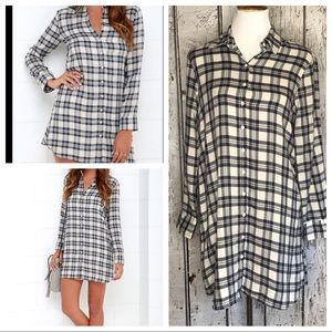 BB Dakota Ruger plaid shirt dress